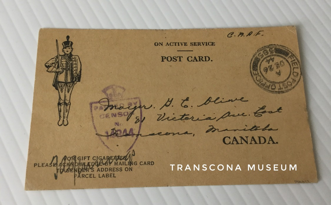 Serviceman card #3 side 1