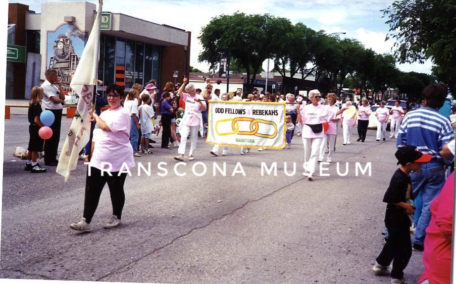 {Hi Neighbour Parade, Confidence No. 40 members marching in the High Neighbour Parade, date unknown. (TMArchives, TH94.12.10)}