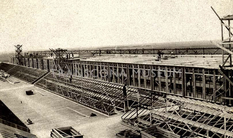 TM Archives, TH84.3.1.21 - Photograph of construction of Transcona Shops ca. 1910