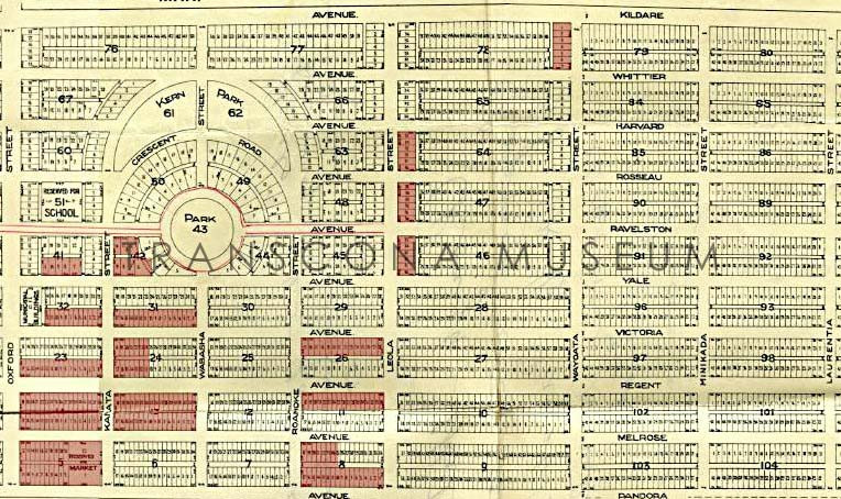 TM Archives, TH98.62.136 - Map of Township of Transcona in 1912