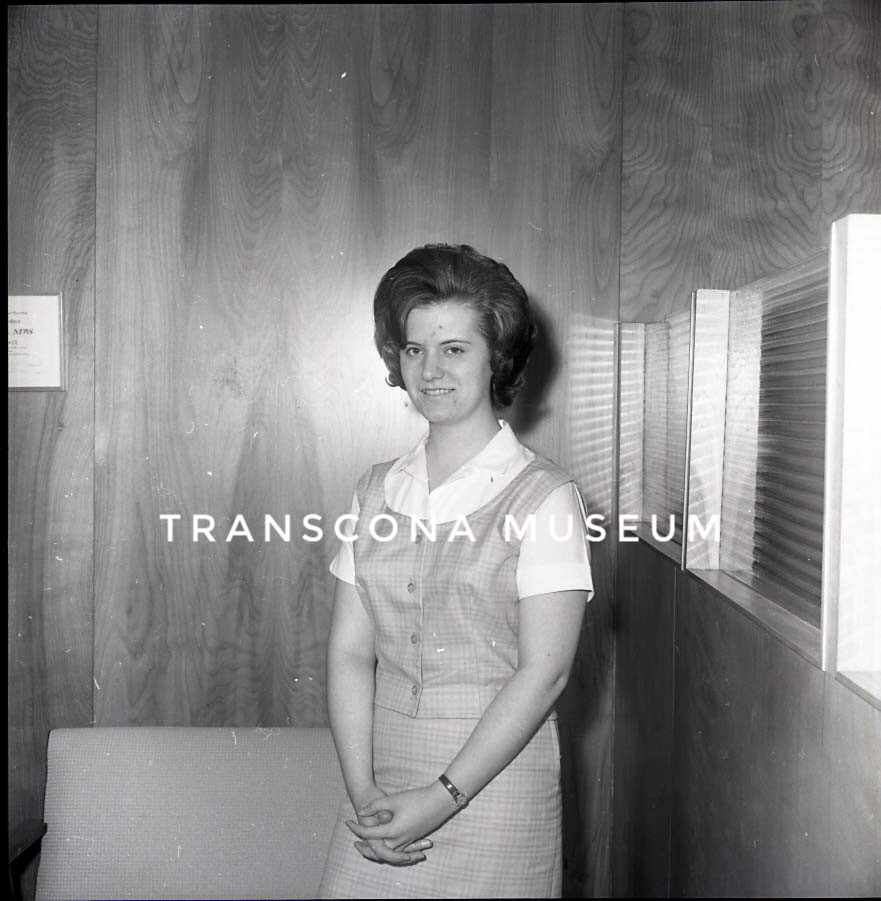 "{Miss Sharon Olsen, delegate for the annual Oddfellows and Rebekahs' ""United Nations Pilgrimage for Youth"". On page 5 of the Transcona News, May 9, 1963. (TMArchives, 99.38.36.9)}"