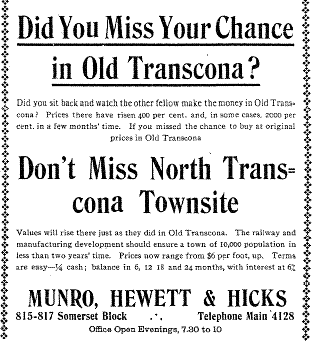 Communities that Time Forgot: North Transcona