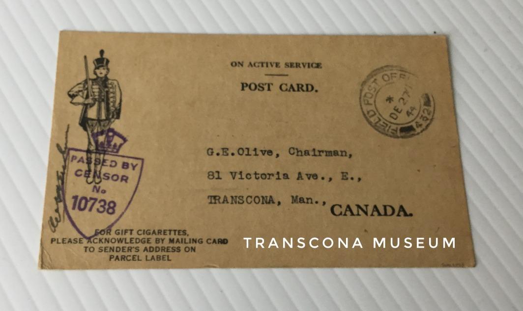 Serviceman card #1 side 1