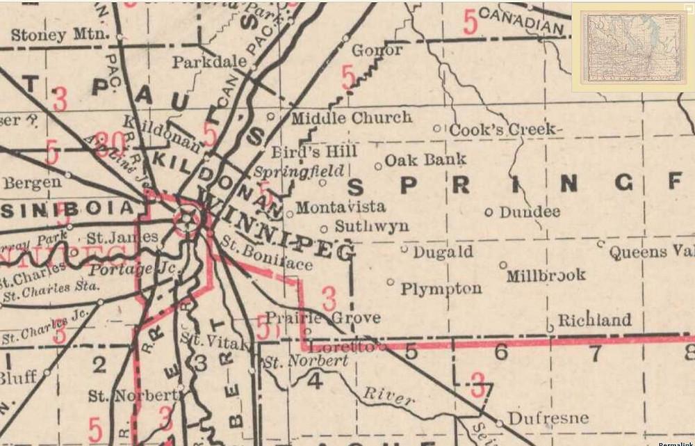 George F. Cram. Manitoba. Chicago: George F. Cram, 1903.