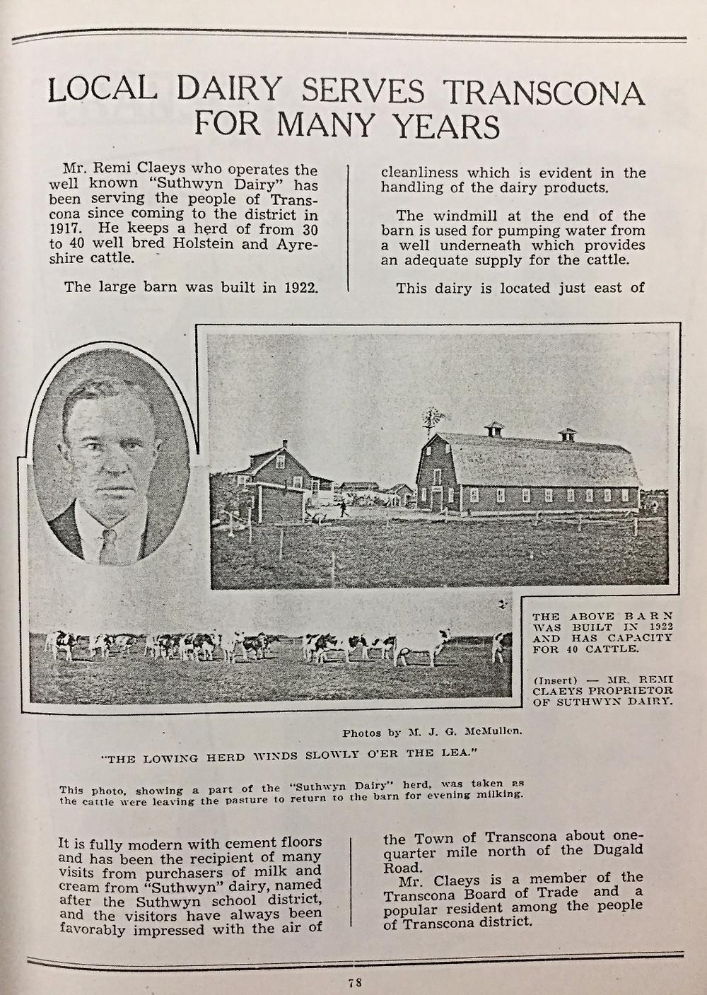 Transcona Silver Jubilee 1936, pg. 78.