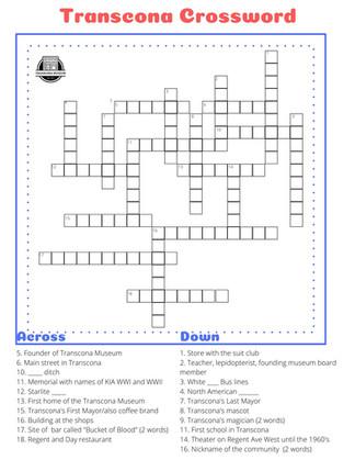 Crossword - Teens & Adults