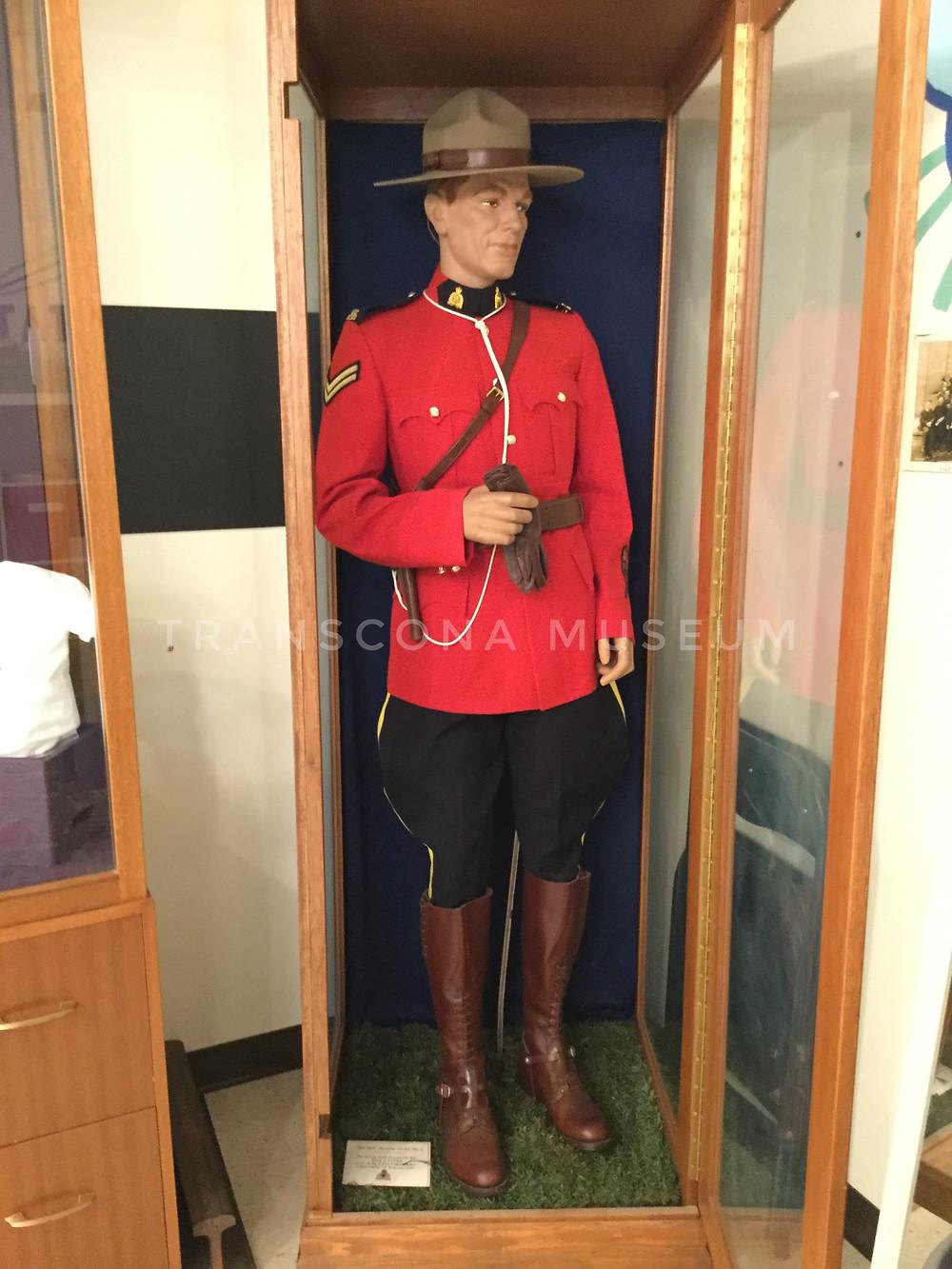 RCMP uniform at Transcona Museum