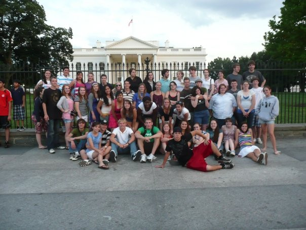 This photo courtesy of Tiffany Lepla. This is a photo of bus group 1 of 5 from the UNP trip in 2009.