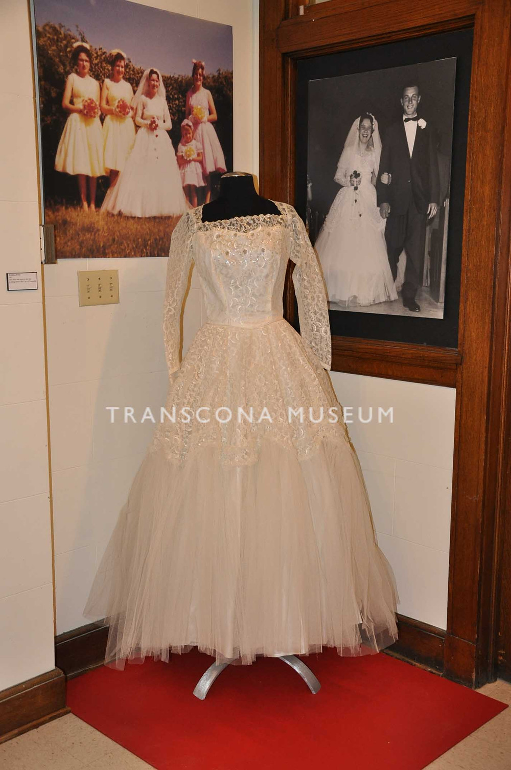 Wedding Dress on display at Transcona Museum