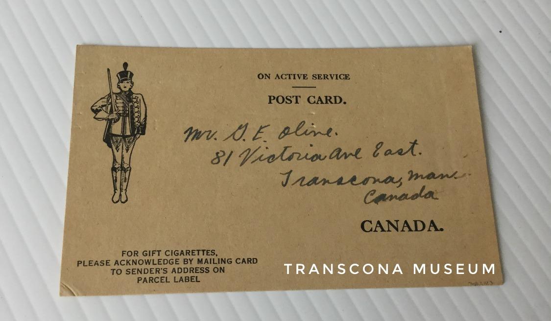 Serviceman card #2 side 1