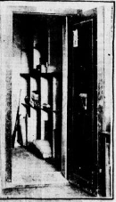 A black and white image of the bank vault