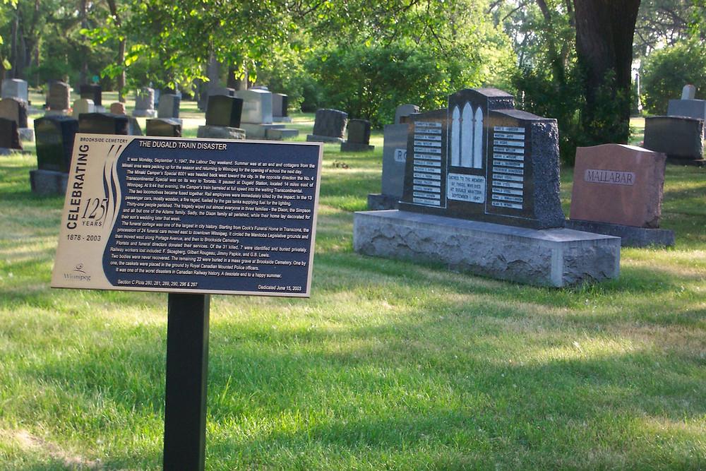Brookside Cemetery memorials