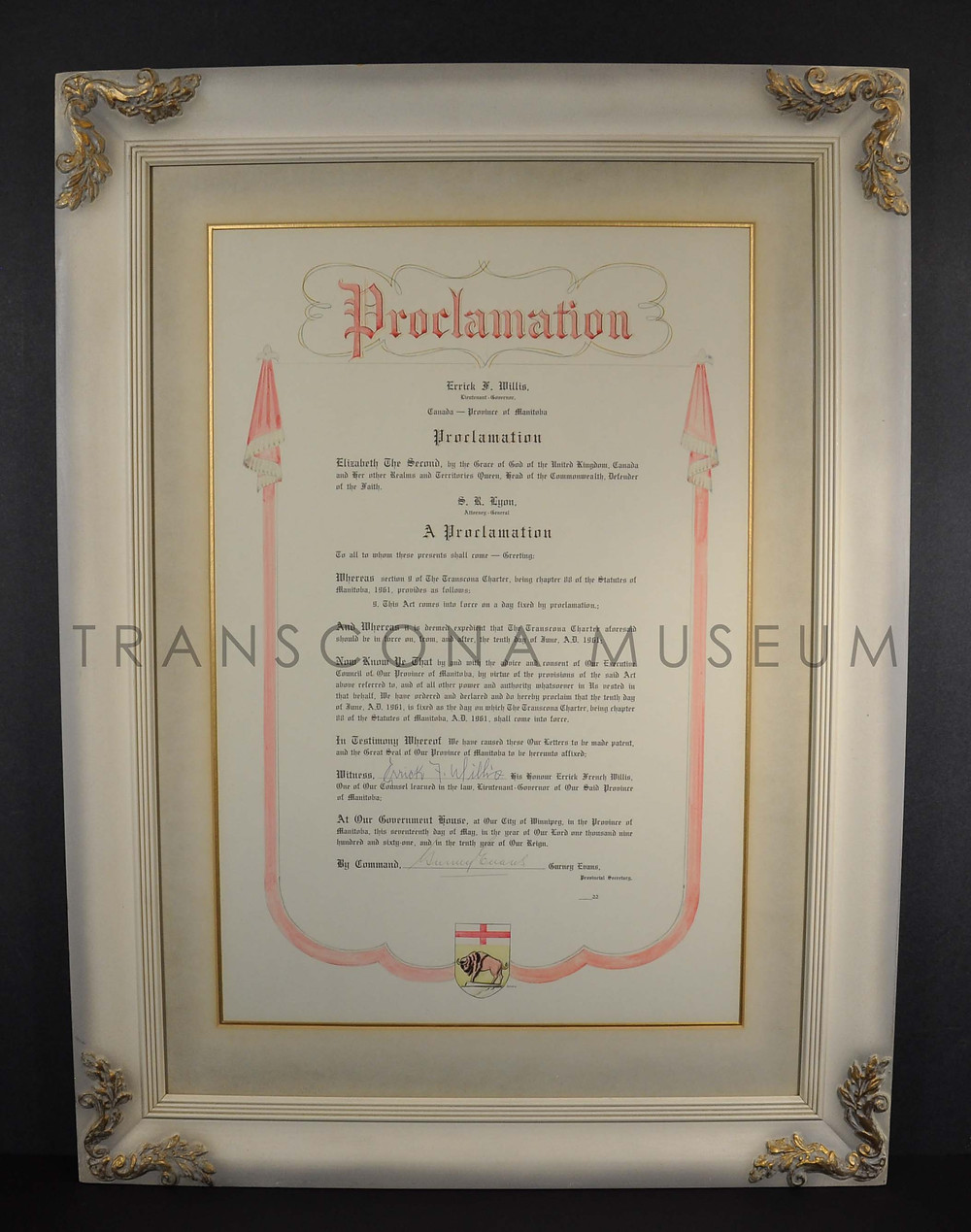 TM Collections, TH72.433.6 - City of Transcona Charter
