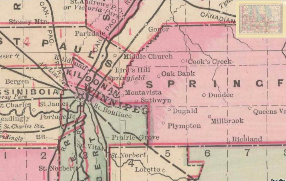 George F. Cram. Manitoba. Chicago: George F. Cram, 1889?