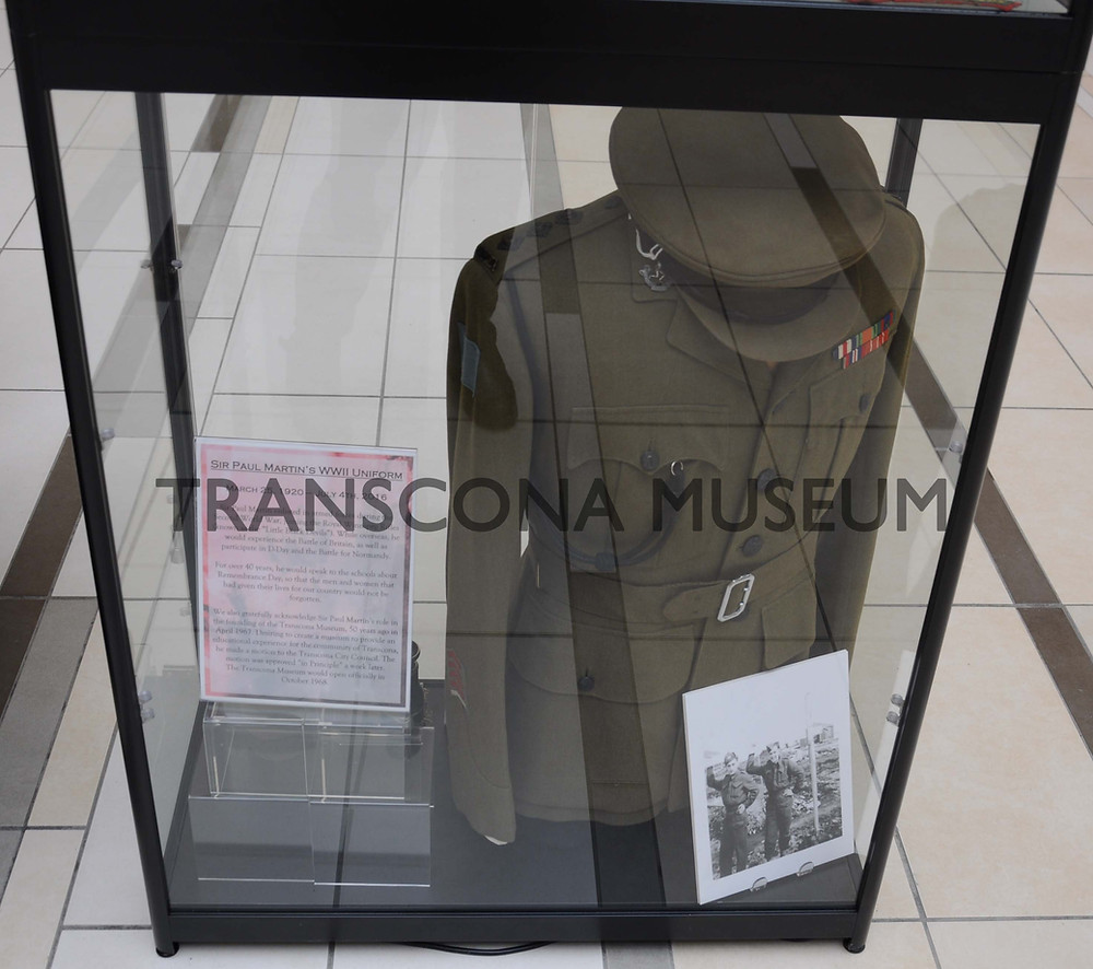 Paul Martin Uniform on display Remembrance Week 2017