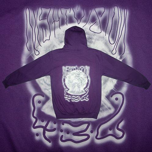 indigo go-in-di glitch 432 hz zip hoodie