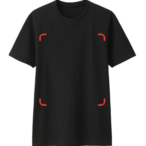 10 PIECES CUSTOM BLACK TSHIRT DTG PRINT