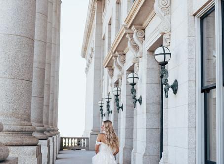 Jenessa Bridal Session   Salt Lake Capitol Building   Salt Lake City, Utah Wedding Photographer