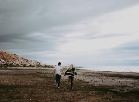 Jenessa + Caleb   Antelope Island Couples Session   Salt Lake City Wedding Photographer