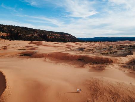 Lindsay + Easton Southern Utah Engagement Session   Coral Pink Sand Dunes State Park