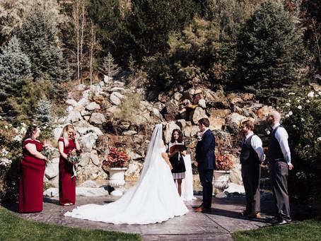 Dustin + Kristine Wedding Day   Millennial Falls Event Venue   Draper Wedding Photographer