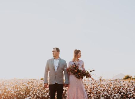 Ashlee + Scott Cotton Fields Couple Session   Salt Lake City, Utah