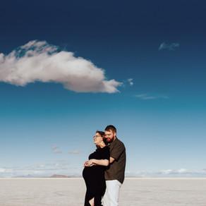 Camilla Maternity Session | Bonneville Salt Flats | Salt Lake City Maternity Photographer