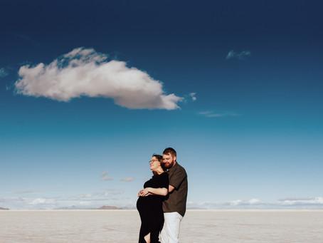 Camilla Maternity Session   Bonneville Salt Flats   Salt Lake City Maternity Photographer