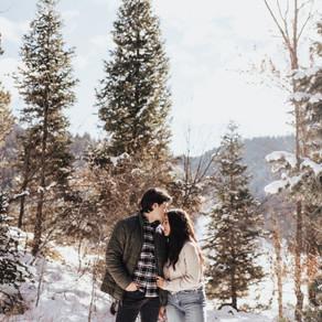 Leilany + Austin Snowy Couple Session | Salt Lake City, Utah Wedding Photographer