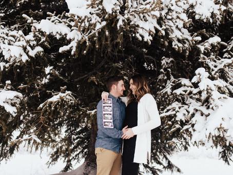 Cortney + Derek Baby Announcement   Jordan Pines Campground   Salt Lake City Maternity Photographer