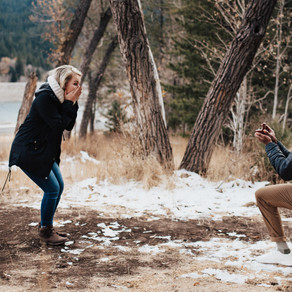 Joshua + Tiffany Tibble Fork Reservoir Proposal | Salt Lake City, Utah Wedding Photographer