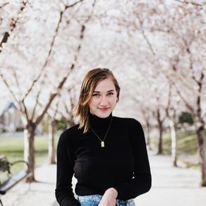 Katie Cherry Blossom Portrait Session | Spring Senior Photos
