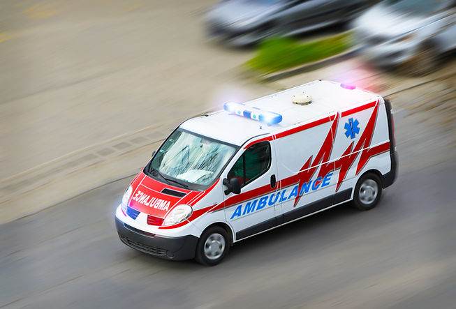 Ambulance van with flashing lights .jpg