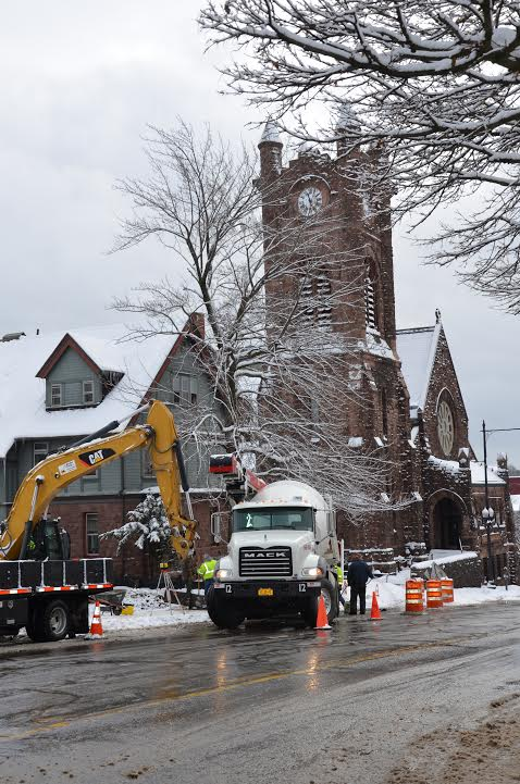 St. Luke's Parking Lot excavation