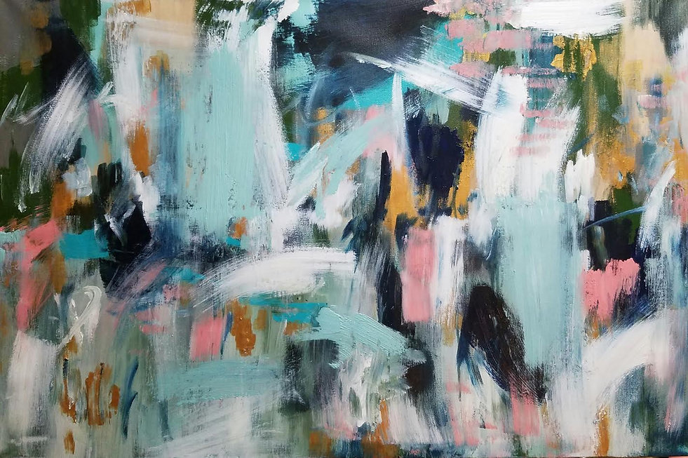 Abstract expressive painting by Texas artist