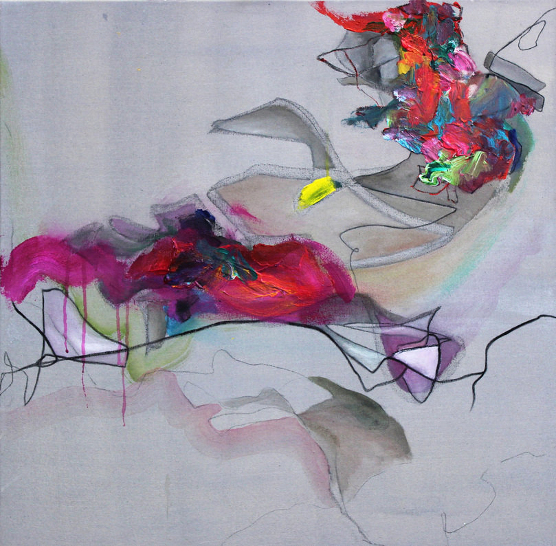 Expressive Modern Abstract Painting