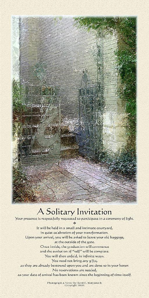 A Solitary Invitation