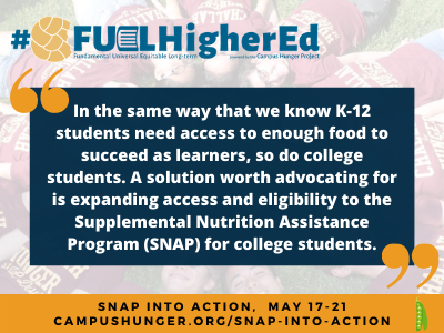 Why we need to strike the SNAP student eligibility rule