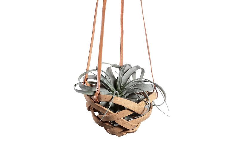 Buff Hanging Basket - Infinity Small