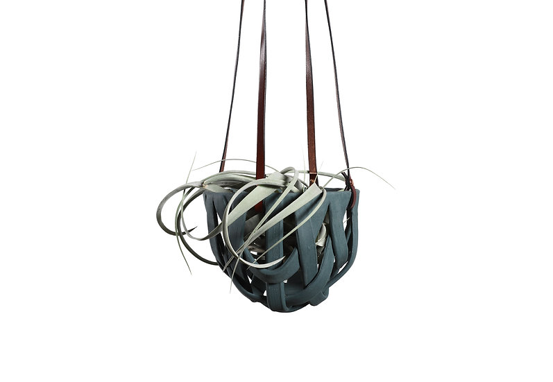 Teal Hanging Basket - Classic Small