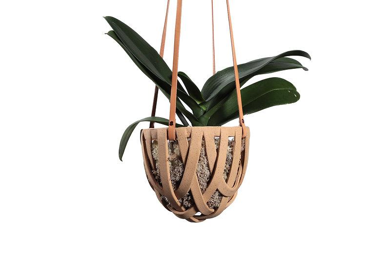 Buff Hanging Basket - Classic Small
