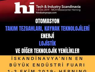 "Hi Tech&Industry Danimarka - Herning ""1-3 Ekim 2019"""