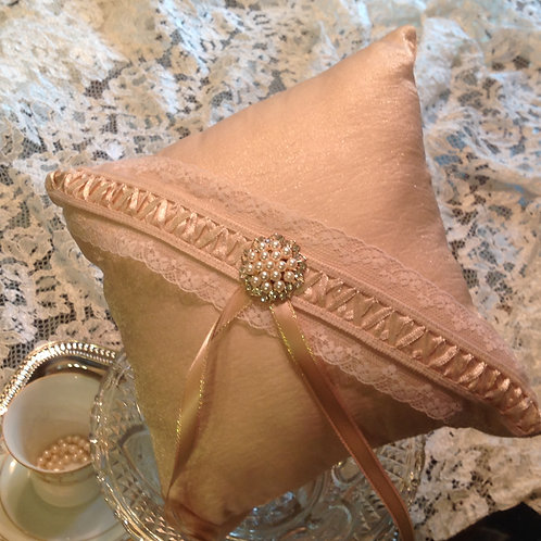 Champagne Punch Ring Bearer Pillow