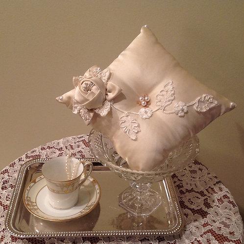 Ivory Decadence Ring Bearer Pillow