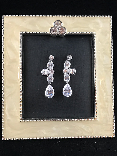 Bridal Party Silver Cubic Zirconia earrings