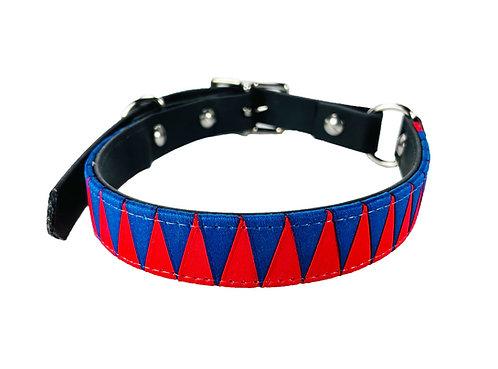 "Halsband ""Happy Dog"" Blau/Rot"