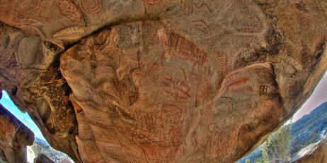 Pinturas rupestres en Ensenada