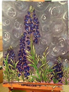 Bluebell Painting