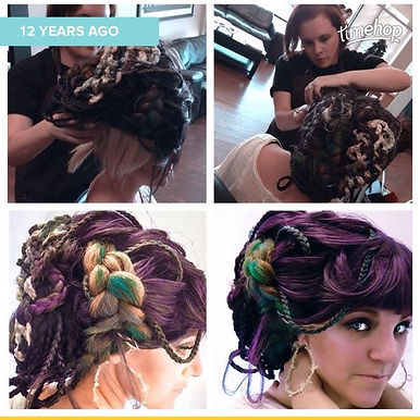 Doing the Updo on my friend Kimber