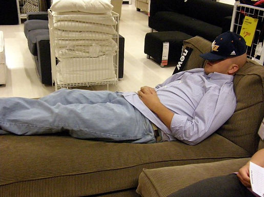 Exploring IKEA while AJ sleeps
